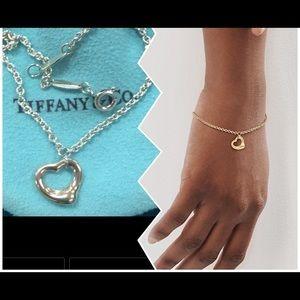 Tiffany &Co 18K Elsa Peretti open heart bracelet